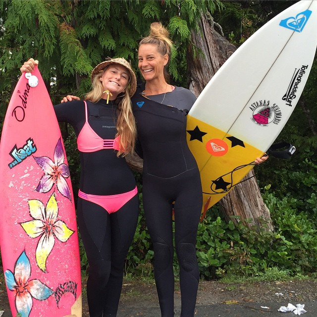 Thank you @cathbruhwiler_tofinopaddlesurf for showing me your home turf, I mean surf in Tofino!