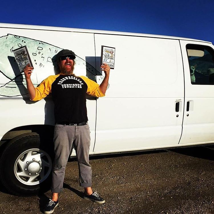 Our very own @gteeeee took home two wins in Utah this weekend on his bike and filled the van to the ceiling with cold hard cash. Lunches are on him! #AHRMA #NHMC #SendItSunday #VonZipper #SupportWildLife