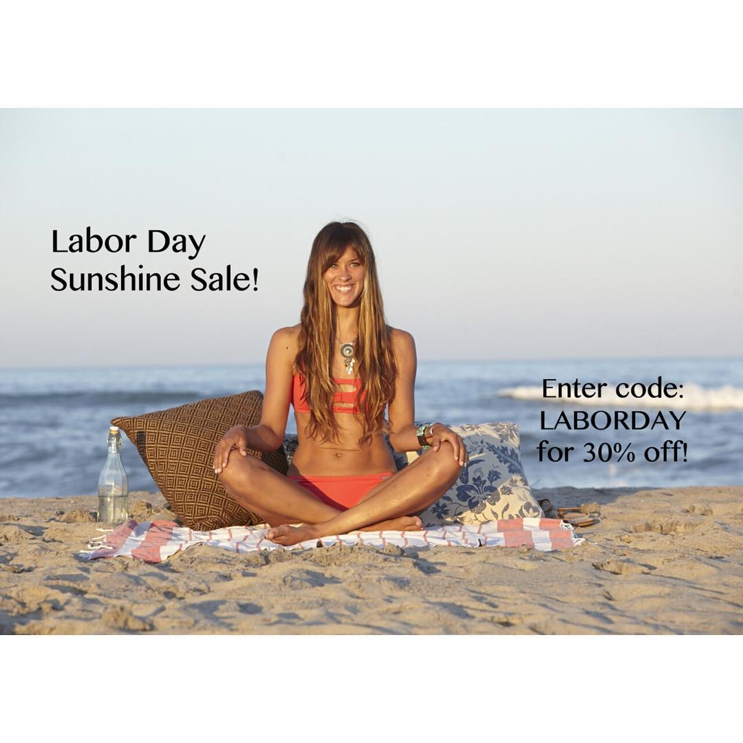 Our Labor Day sale ends TONIGHT! Head on over to www.sensibikinis.com for 30% off new and already discounted pieces. XO