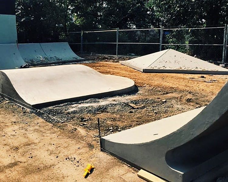 Our new parking lot is shaping up nicely. #Nashville #skate