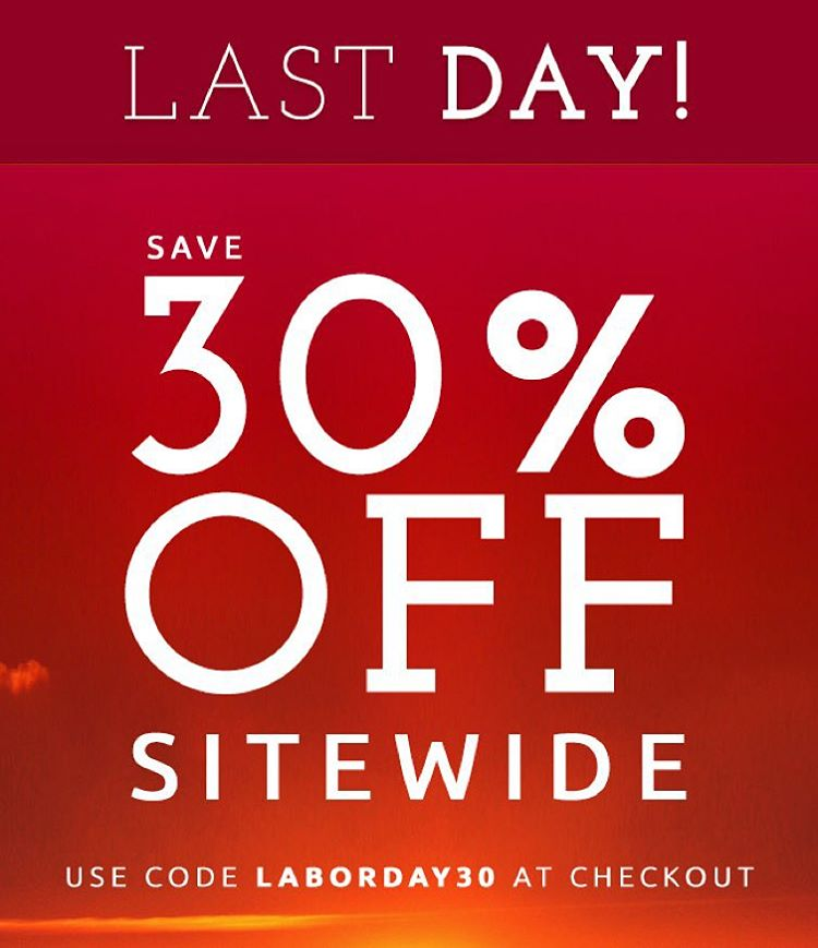 Happy Labor Day! Last chance to enjoy our #LaborDay sale! Use code LABORDAY30 at checkout #sale #fashion #sustainable