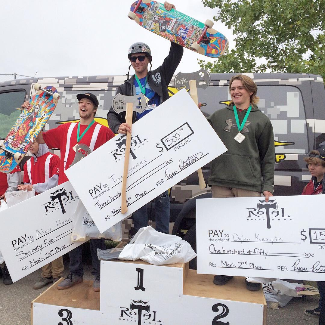 Our man @troy_yardwaste trekked out to Calgary, Alberta over the weekend for the #GumballClassic put on by @royalboardshop and wouldn't you know it... He skated his #ParisSavants straight to the top of the podium! Congrats on the win Troy! #paristrucks...