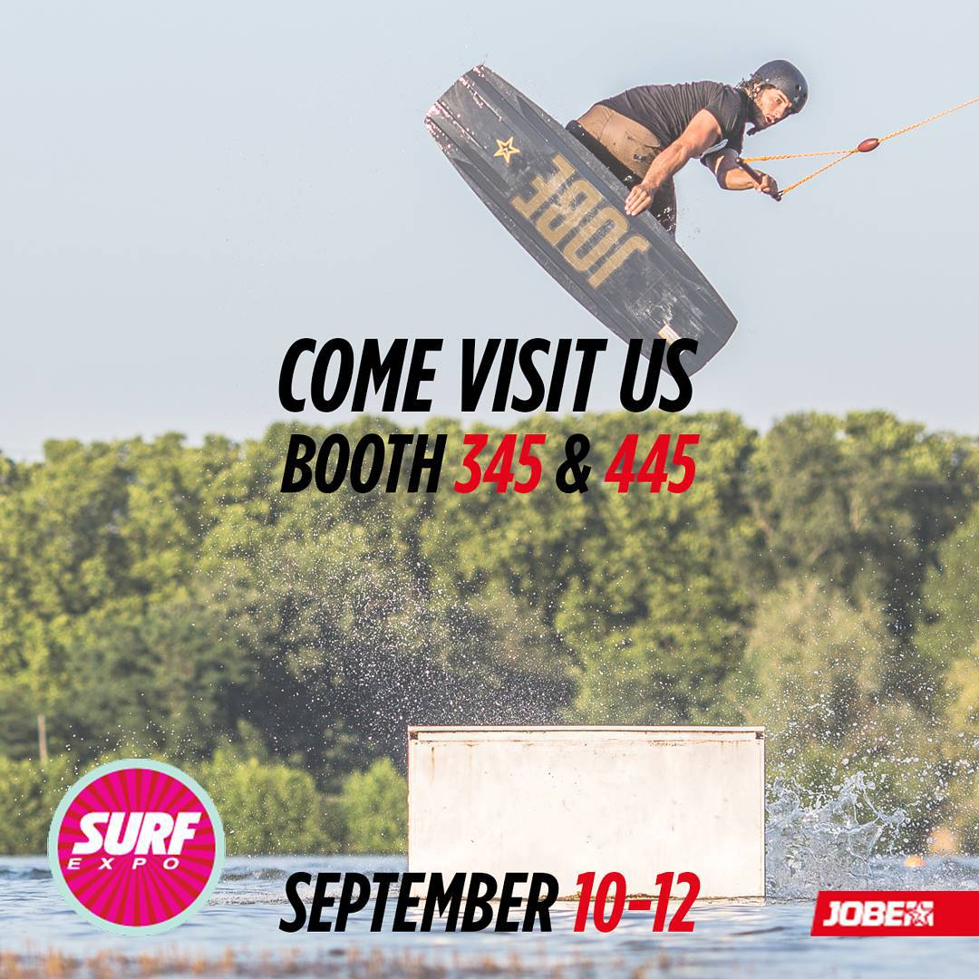 From the 10th until the 12th of September, Jobe will be at the Surf Expo! Stop by at booth number 345 and 445 to check out our 2016 SUP and wakepark range and more! Like: sexy models, a smoothie bar and an artist who will paint blank SUPs!  #surfexpo...