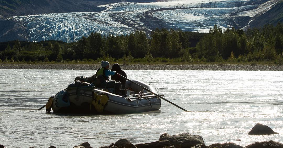 Rowing by Walker Glacier. The magnitude of this place is hard to capture, but @scmerrow does a fantastic job doing so. Thanks for the pic and a great trip! Looking forward to the next one! PC: @scmerrow #alsekriver #rei1440project