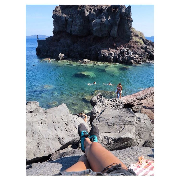 It's #TuesdayShoesday and we're loving this shot of the JJ shoe matching the seascape in Greece. Photo courtesy of @nindynoto