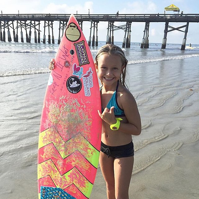 CONGRATS to #luvsurf #team rider @breesmithsurfer on her #1stplace #win in the super menehunes division for shortboard and 4th place in jr. Women's longboard at @nkf_surf_fest this past weekend! Enjoy the STOKE!!! #stoked #surf #surfslikeagirl...