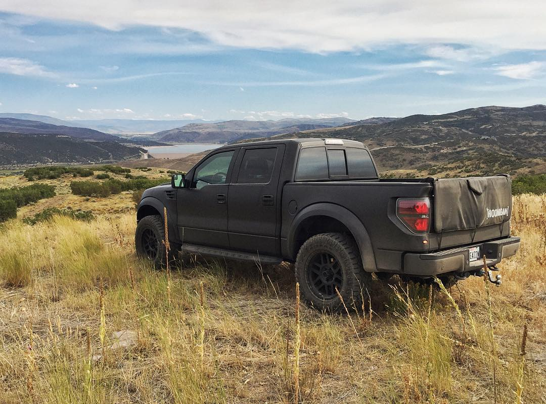 My Raptor, casually shot on some weeds. Wanship, Utah. #suchexplore #FordRaptor