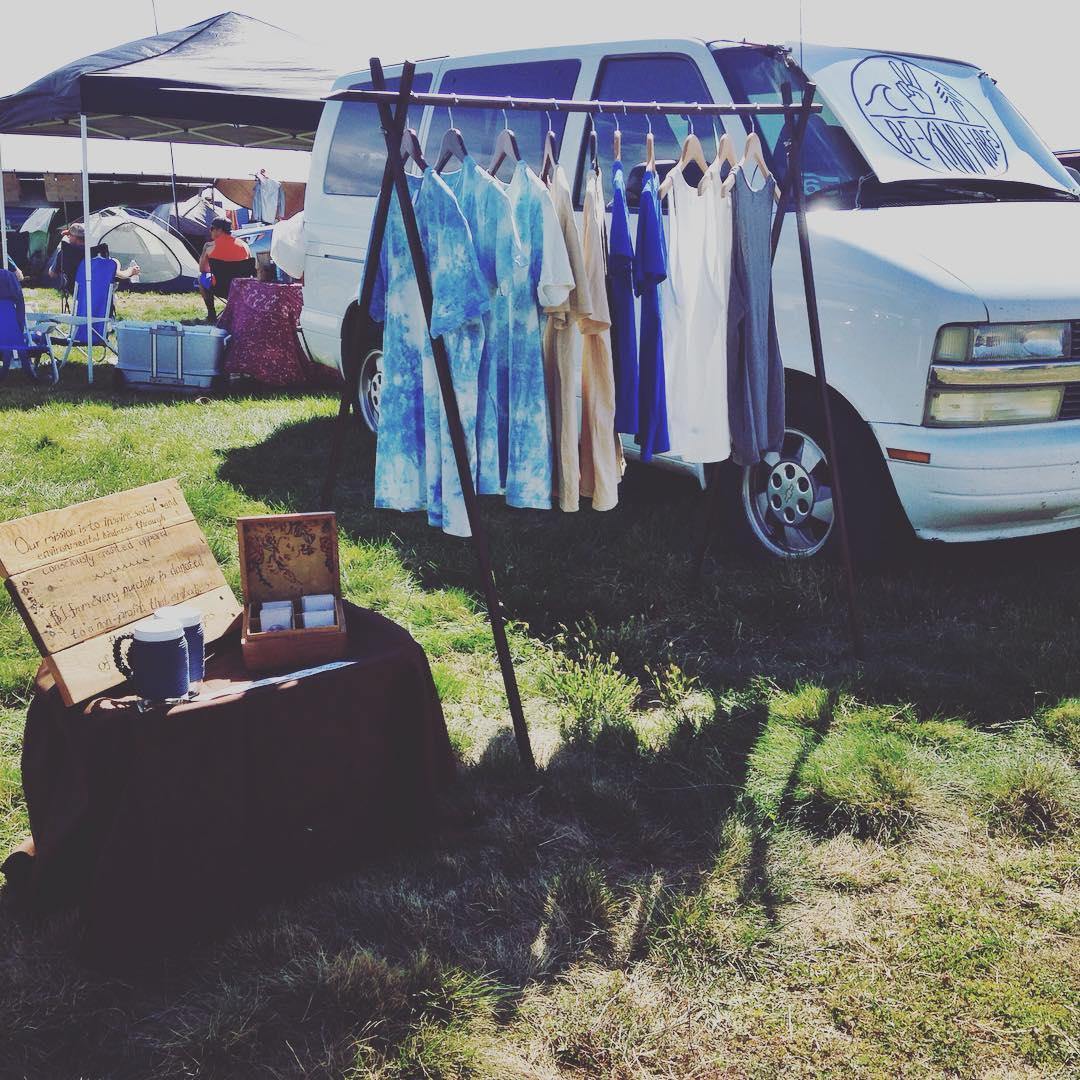 ~ Road Trippin ~  Mini pop up shop in the campsite. A big thank you goes out to all the new Be Kind Tribe members and conscious adventurers who took the time to swing by our set up and see what we're all about. The festival family love was in full...