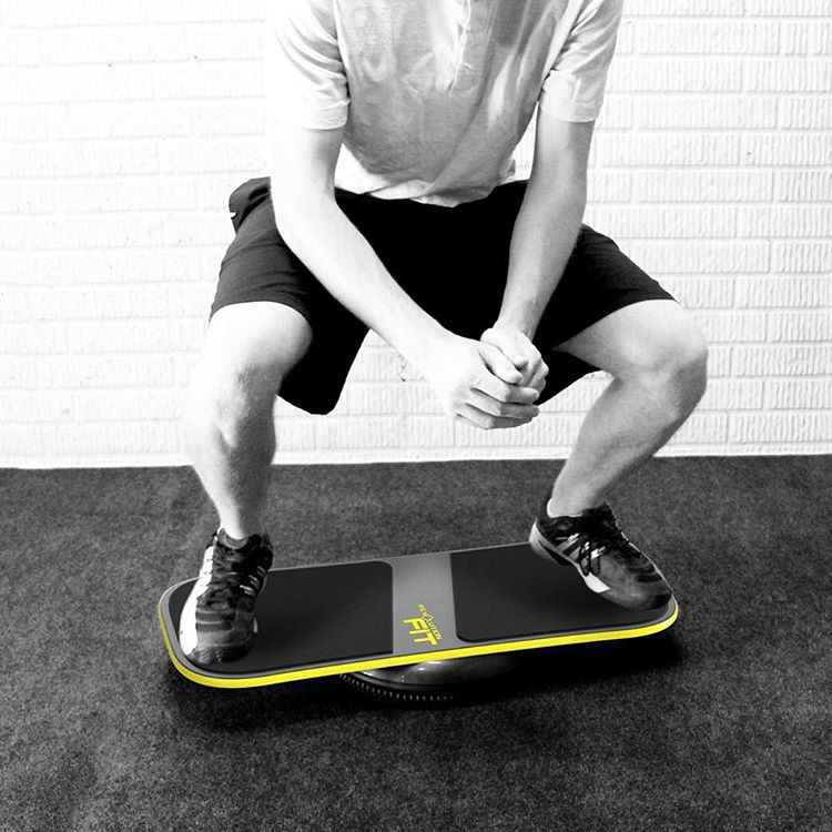 Squats on the fit board!  Are you ready to experience the ultimate workout and balance experience #revbalance #findyourbalance #traininsane #madeinusa #boardsports #yoga #crossfit #surfing #paddleboarding #skateboarding #wakeboarding #running...
