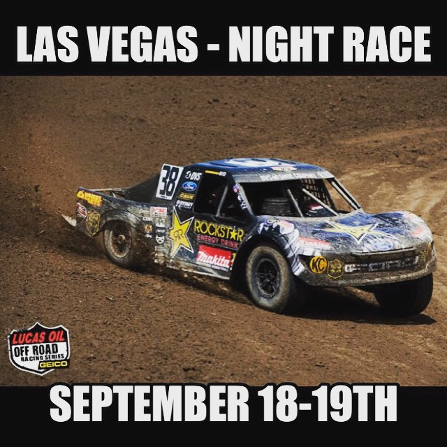 Going racing in Vtown come check it . Kids 12 under free gates open at 4p racing Around 7p. Track will have more grip at night so makes for better #racing more passes. @rockstarenergy #rockstarenergy @lucasoiloffroad #offroad #vegas #deegan38