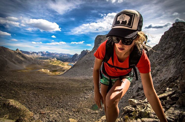 Boulder field blastin' badass @brittmumma in the Wind River range rocking one our WyoPride SnapBack hats. Photo by @dirkcollins  #AV7Renegade #avalon7 #liveactivated #adventuremore www.avalon7.co