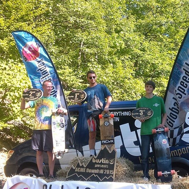 "Big shout out to @aolaolent for taking 3rd in the expert division this past weekend at the 2015 ACME Downhill! David was rocking the 39"" Keystone...stoked to see another podium for DB. #dblongboards #acmedownhill #longboarding"