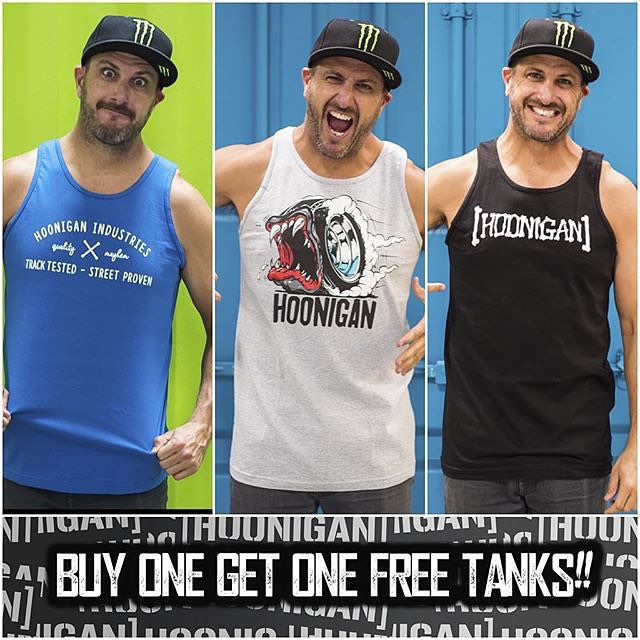 #Regram from @TheHoonigans. They've extended their Labor Day sale for the rest of today - buy one tank top at #HooniganDOTcom, get one free! Offer ends at midnight tonight. #HNGNLaborDaySale #supporthooniganism