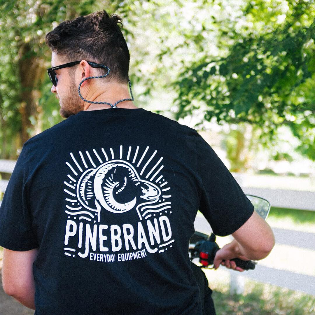 Pine Brand: Everyday Equipment for people with bed head who ride scooters. // @kylepanis on the