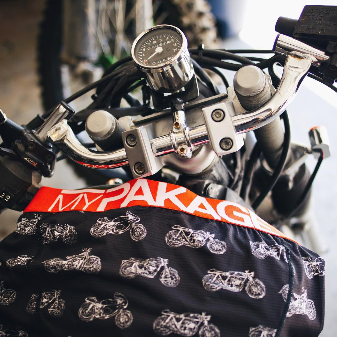 The new Action Series Moto pair designed by TJ Schneider and @theshopvancouver - inspired by riding motorbikes and designed to keep your pakage high and dry while riding!