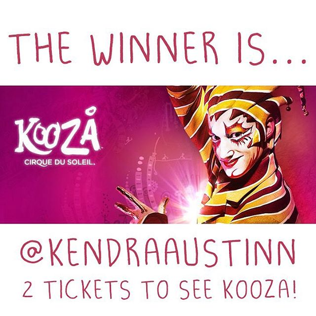 Congratulations @kendraaustinn • • You are the winner of two tickets to the Sunday Sept. 13th show of @cirquedusoleil #KOOZA !! Please email us at info@SPRATX.com so we can get you your prize! • • Thank you to everyone that played and we wish we could...