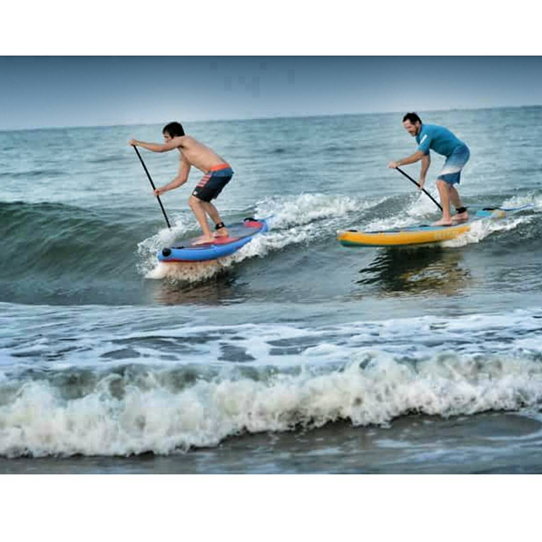 Peter Hall and @suppaul_pics surfing it up on the new 2016 Hala Gear boards at Cocoa Beach! Come check out the boards at Surf Expo booth #757!  #halagear #newboards #adventuredesigned #whitewaterdesigned  #theweeklyinsta #theoceaniscalling #cocoabeach...