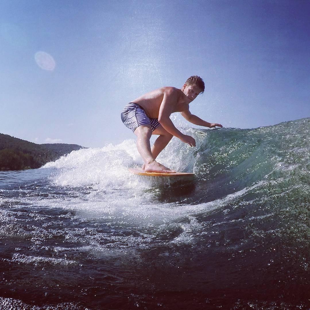 #AkelaSurf  #Ambassador  Kristian Cyr  @kriscyr #surfing Alaia  board made in #canada