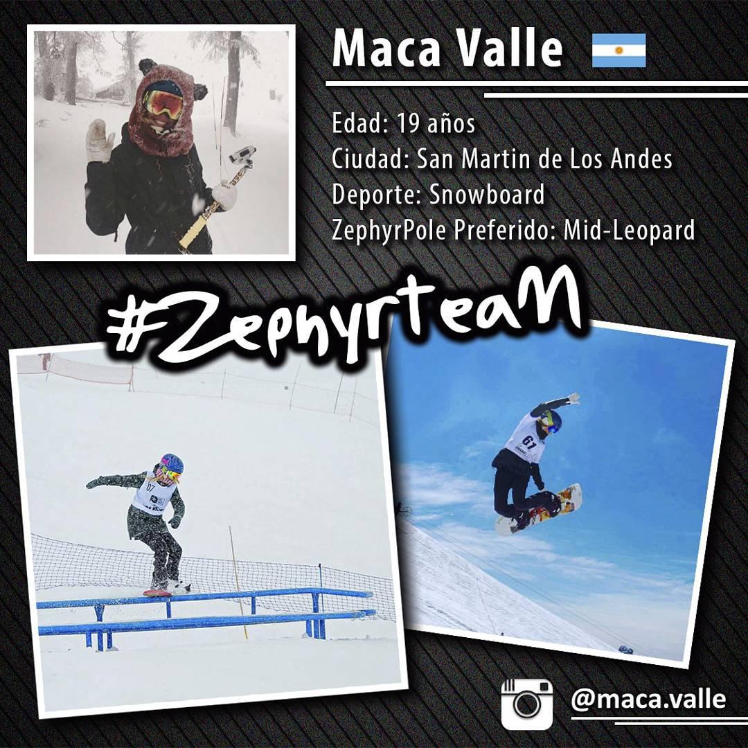 @maca.valle, snowboarder argentina, integrante del #ZephyrTeam!