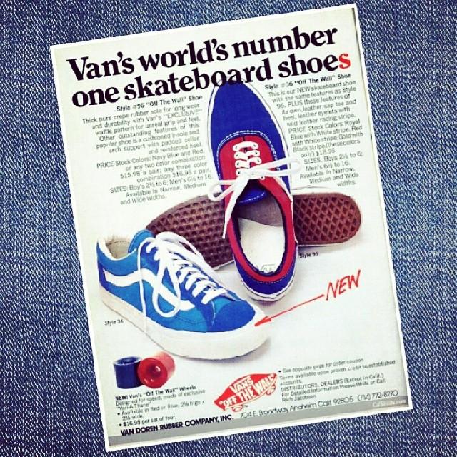Vans celebra el legado del clásico Sidestripe! Mira la historia de la linea lateral que caracterizan a las Vans hace 4 decadas en vans.com o en nuestro Facebook y Tumblr!