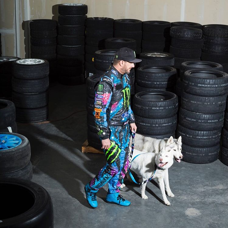 Not your typical dog walk - but then again, #BentleyChickenFingersBlock and #YukitheDestroyer aren't your average dogs, either. Shot during a @SAXXunderwear photoshoot I did earlier this year. #motorsportdogwalk #lifechangingunderwear #notanunderwearmodel