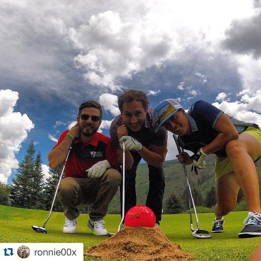 #Regram from @ronnie00x. Thank you for your continued support! @lonemountainprinting @schroy #bonnieball #charitygolf #gopro #hero4session #arcadebelts #poc #vail #colorado