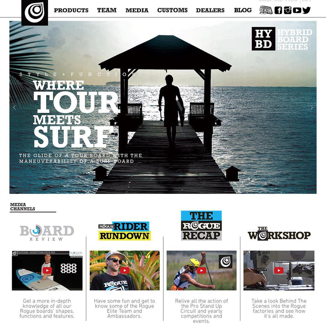Our new website is up at www.roguesup.com! Go check it out to see what new board designs and product we have in store for 2016, as well as a whole new revamp of the entire site! #roguesup #sup