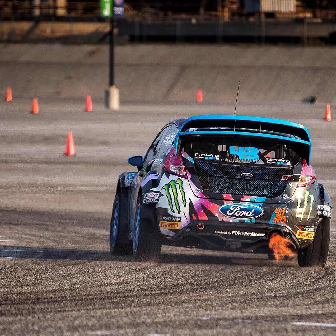 It's pretty safe to say that @kblock43 is getting fired up for @redbullgrc LA this weekend. #GRCLA #hooniganracing