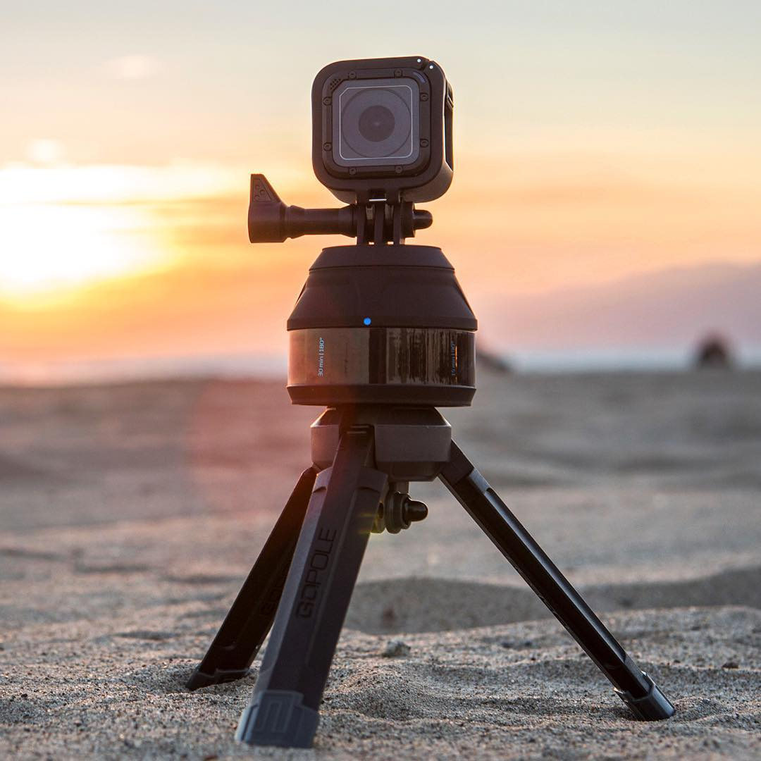 When capturing time-lapse video, attach Scenelapse to GoPole Base for added stability on uneven surfaces. #gopro #HERO4Session #gopolebase #scenelapse #timelapse