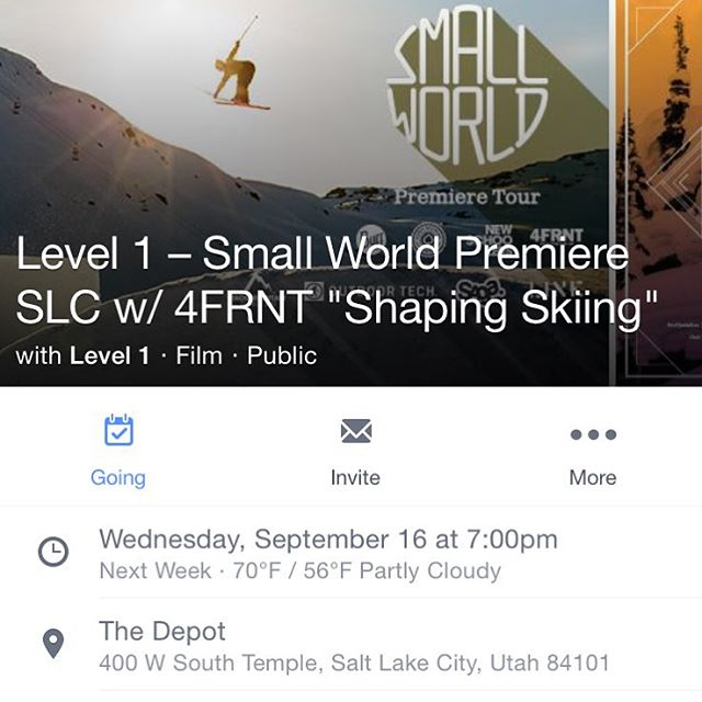 We're doing this, right? Weds, Sept 16, pre-party at our pad at 5, roll out to The Depot at 7. Doors at 8. Bring on winter. Let's send it!  #shapingskiing