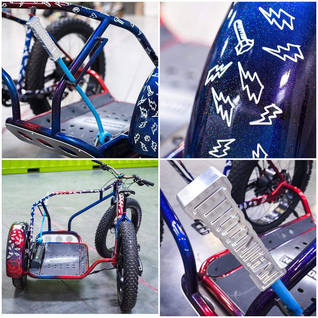 A few of my favorite details on the @IamSpecialized #slidehack project they just gifted me. Check out the awesome paint work by Brian Szykowny (@swiznooski) - and of course, the replica Hoonigan handbrake. So rad. #iamspecialized
