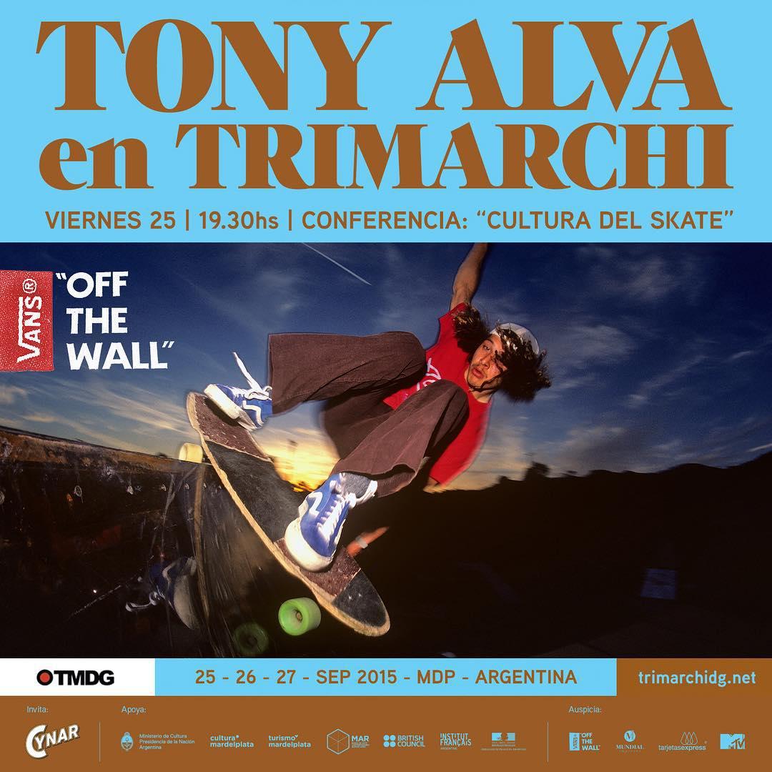 Septiembre, te estamos pidiendo todo: @thetonyalva1957 va a estar en @trimarchidg para dar una conferencia (sí, una semana después de la demo en el Skatepark Costanera). Aguante