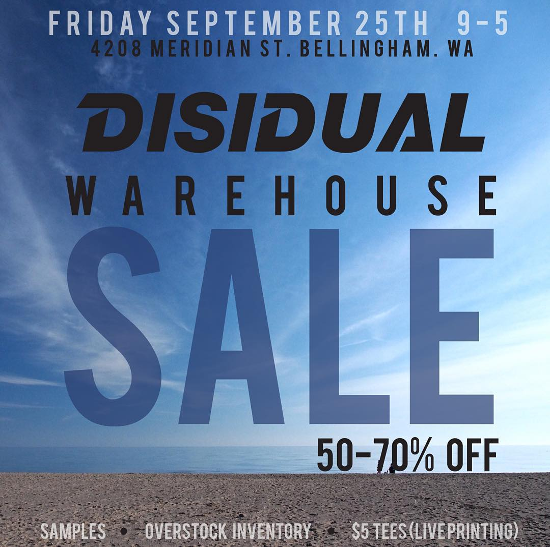 Friends mark your calendars! We are having a MASSIVE sale Sept 25th // 50-75% off // #disidual #disiduallivin #sale #warehousesale #deals #brokeandstoked