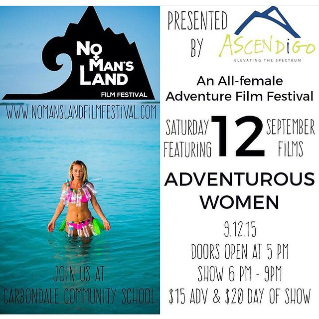 Colorado people--don't miss @nomanslandfilmfestival this Saturday! Amazing films, lady driven and inspired!! #sisterhoodofshred #filmsforchange #girlsrule