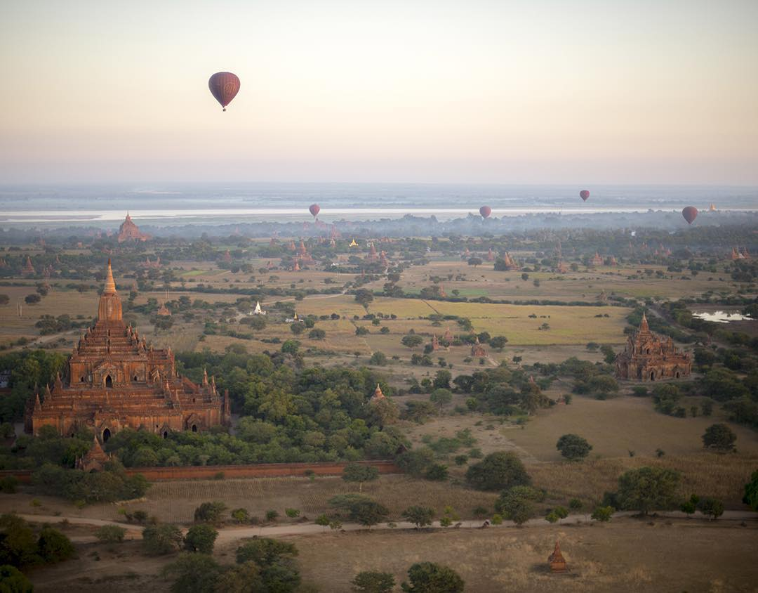 Forsake takes to the sky, hot air ballooning in Bagan, Myanmar. Read about the adventure at Experience.Forsake.com! #banks #getoutthere #adventureworthy @jackbknoll