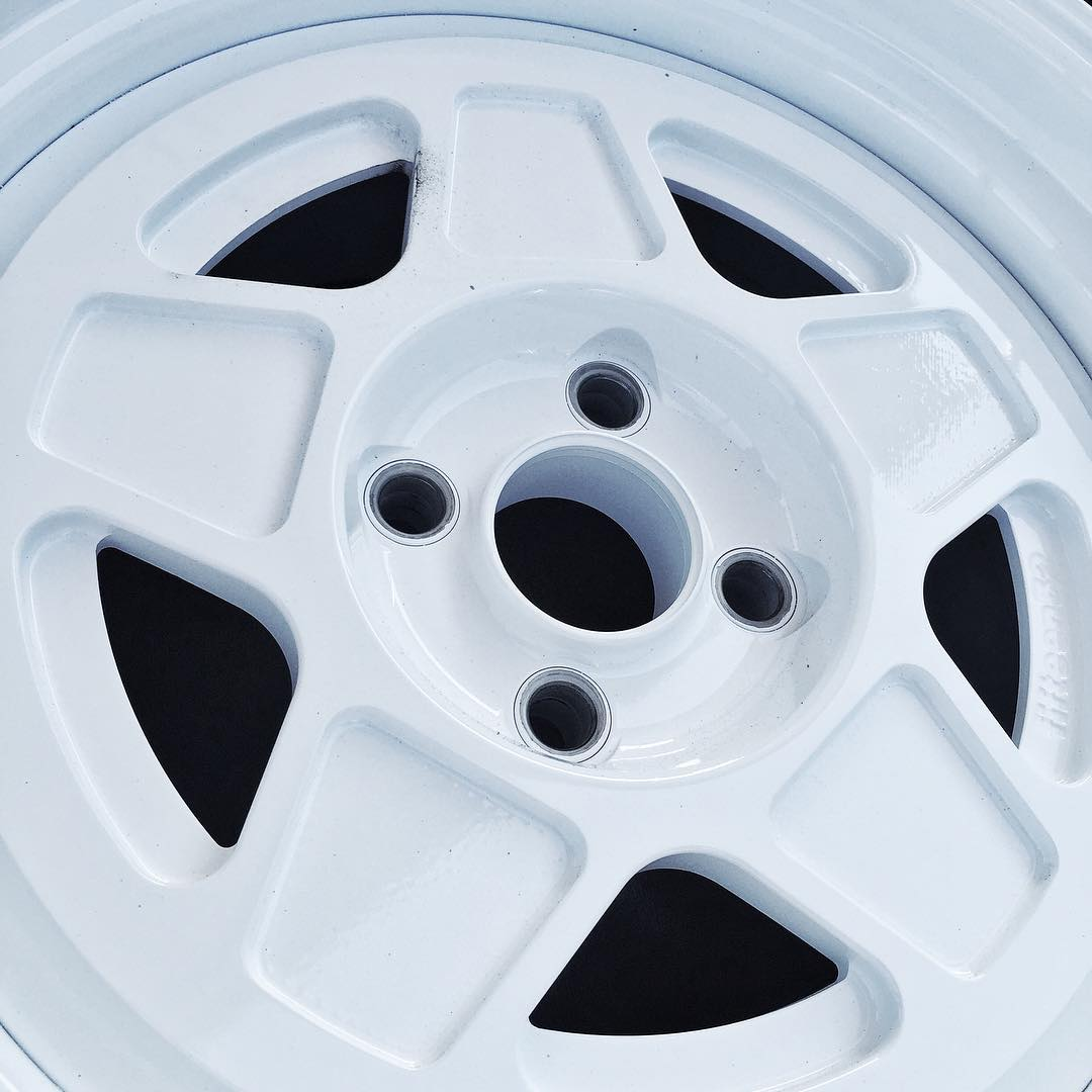 New project = fresh @fifteen52 wheels. I like new wheels. First time I've ever run two piece wheels on any of my cars, too - awesome. #newprojectnewkicks #motorsportwhite