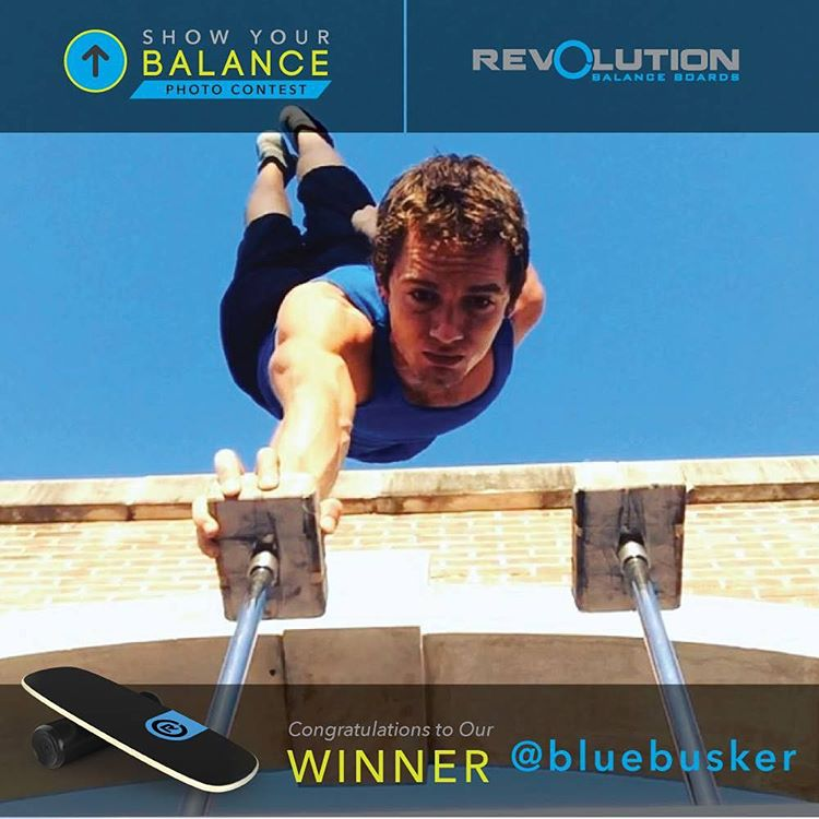 We are happy to announce the #revbalance #showyourbalance contest winner is @bluebusker with the one-hand-stand! Blue busker is taking home the 101 board! Thanks to all who entered! Huge shout out to the runner-ups @maestralindsey and @alanbrowniefitness!