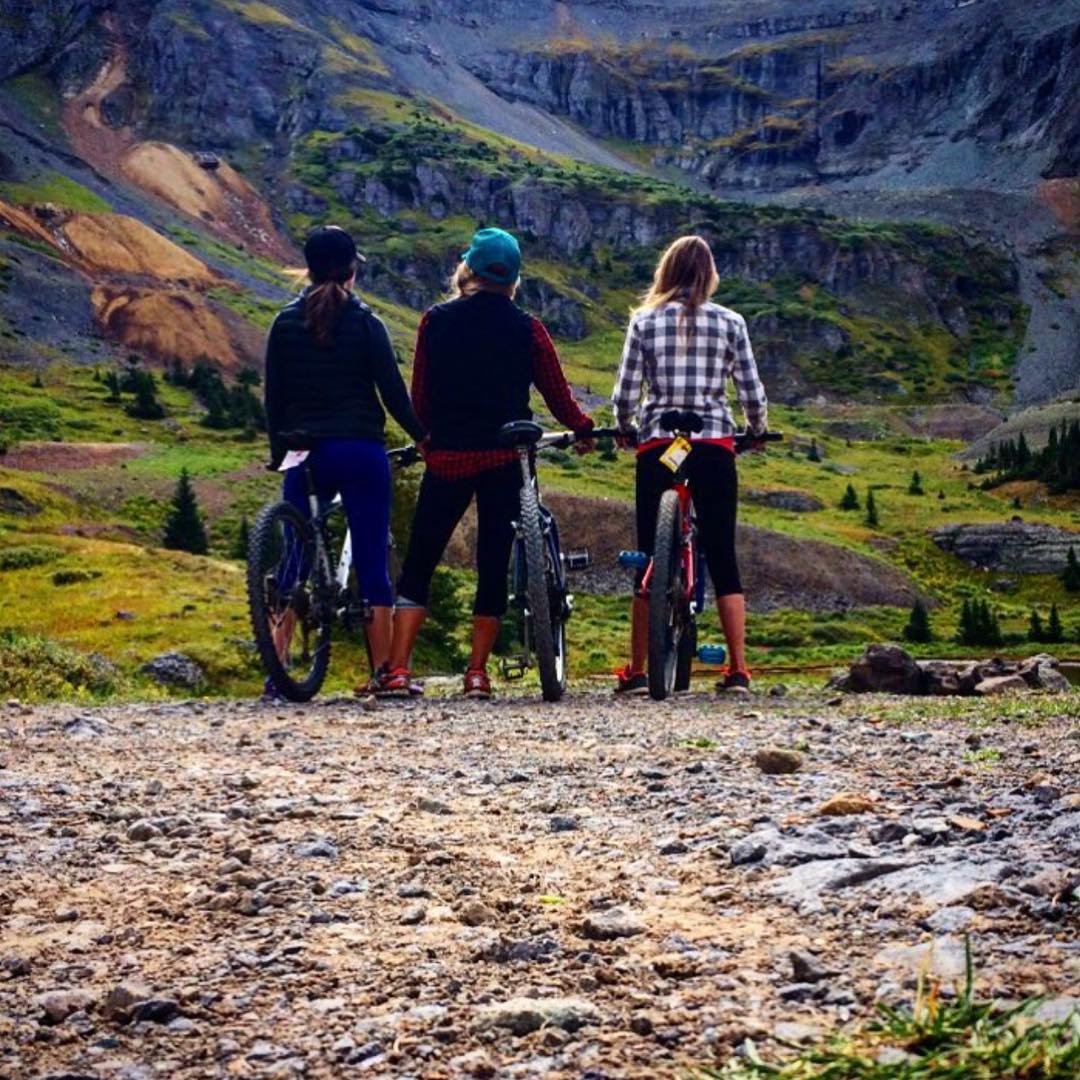 #regram from @ciwanchuk. Biking with friends in Telluride. Whether it's for a cruise or a big adventure, it doesn't matter. Just #getoutside and appreciate the beautiful outdoors.