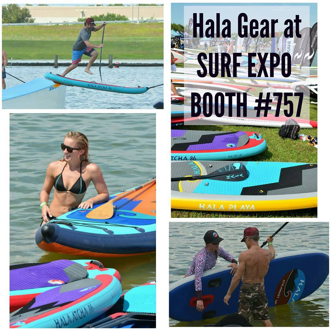 Lots of fun today at the #surfexpo2015 outdoor demo! Come visit us tomorrow at booth #757.  #halagear #adventuredesigned #whitewaterdesigned  photos: @suppaul_pics