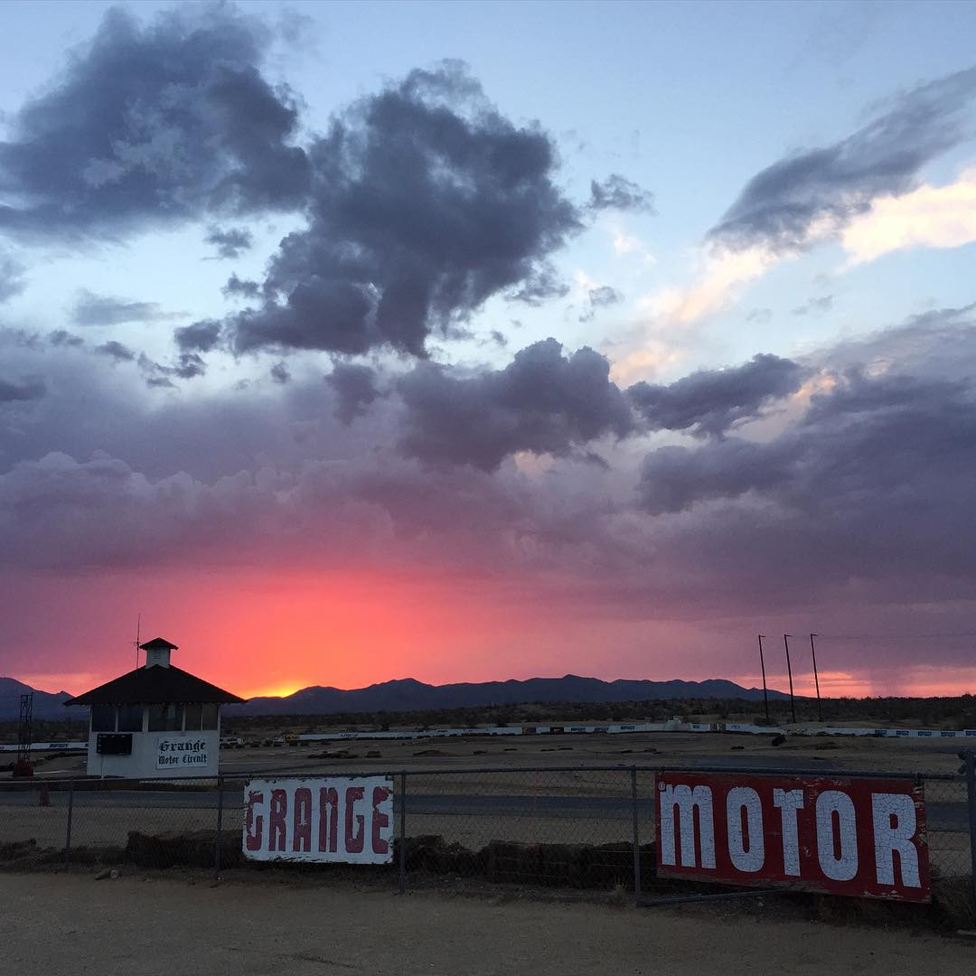 End of another great day out at a random track in the California desert: Grange Motor Circuit. I can't show you any of what we did today, so here's a dope sunset instead. Ha. Stoked to show you this new project we're working on, launching later this...