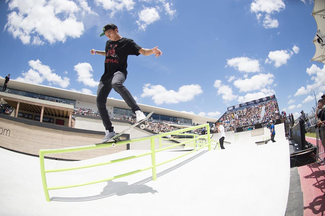 #TBT – @nyjah earned his seventh ❌ Games gold medal in June!  He'll star in our #SkatersInEthiopia show this Sunday on ABC. (