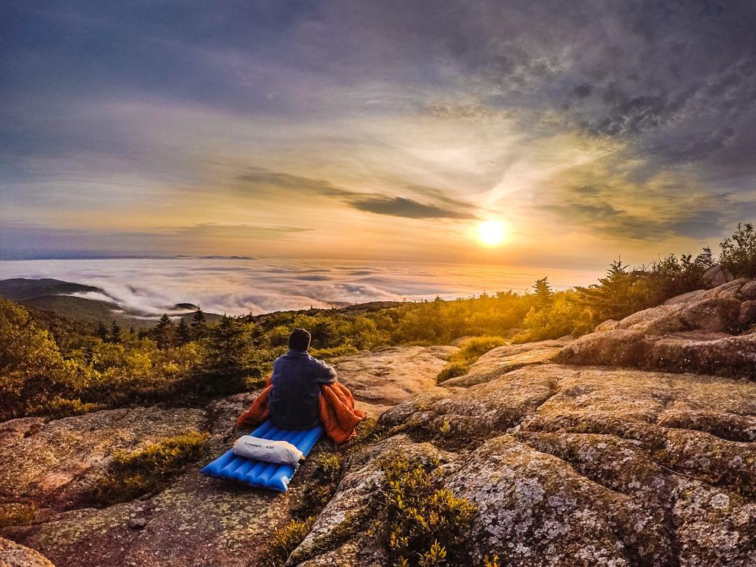 The top of Cadillac mountain deserves the Cadillac of blankets |