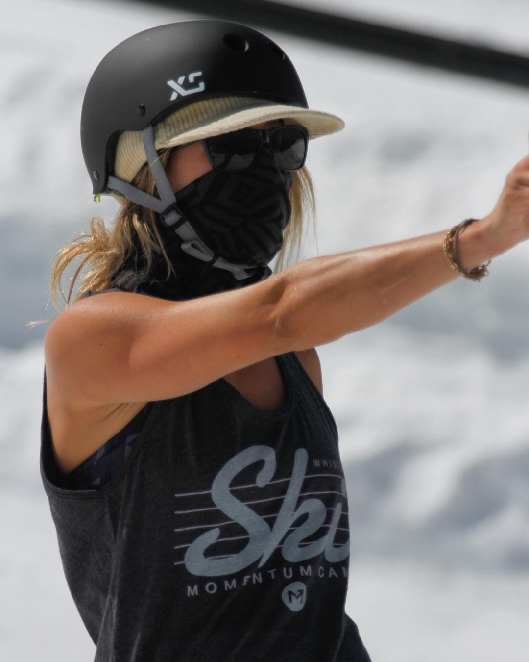 @anna_segal keeping skiers in check at the @momentumcamps this summer