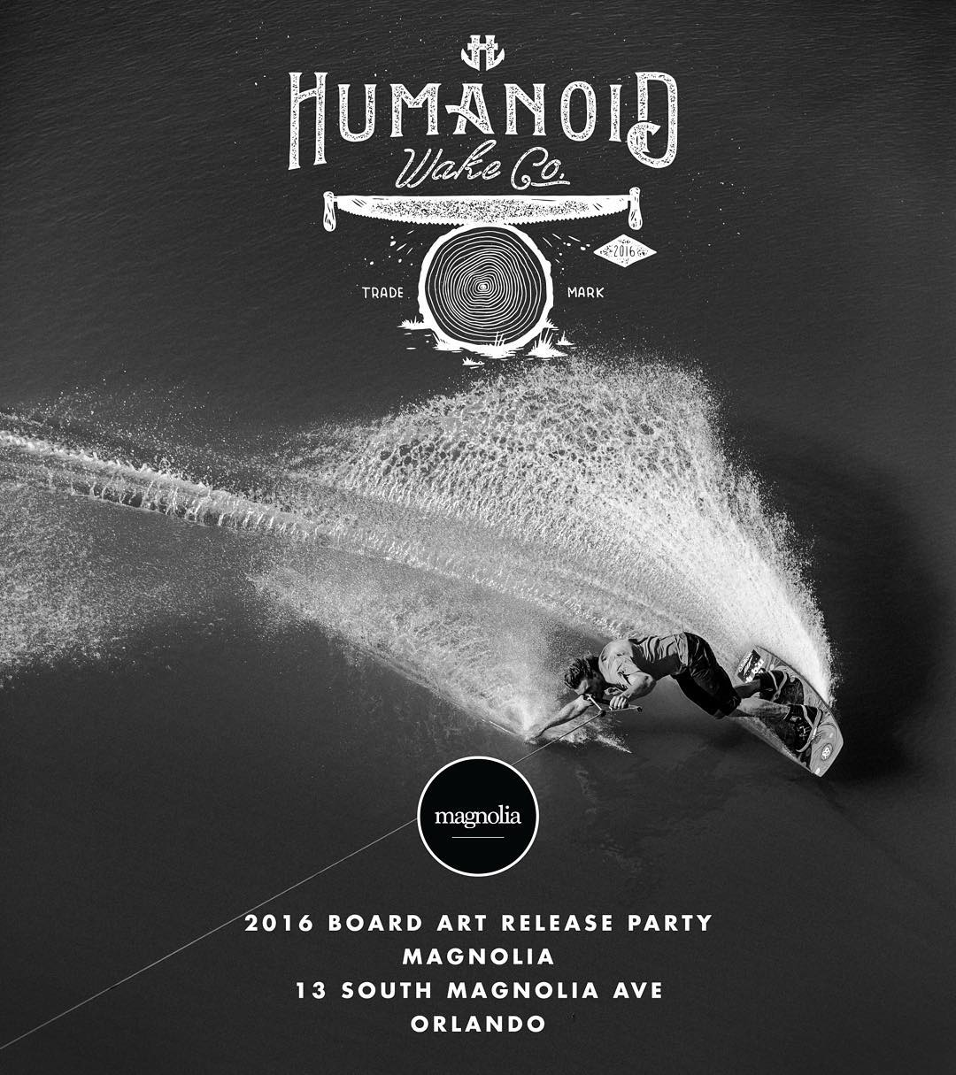 Come to see the release of our 2016 board graphics tonight @magnoliaorlando 8:30-Midnight! #art #wakeboarding #beer