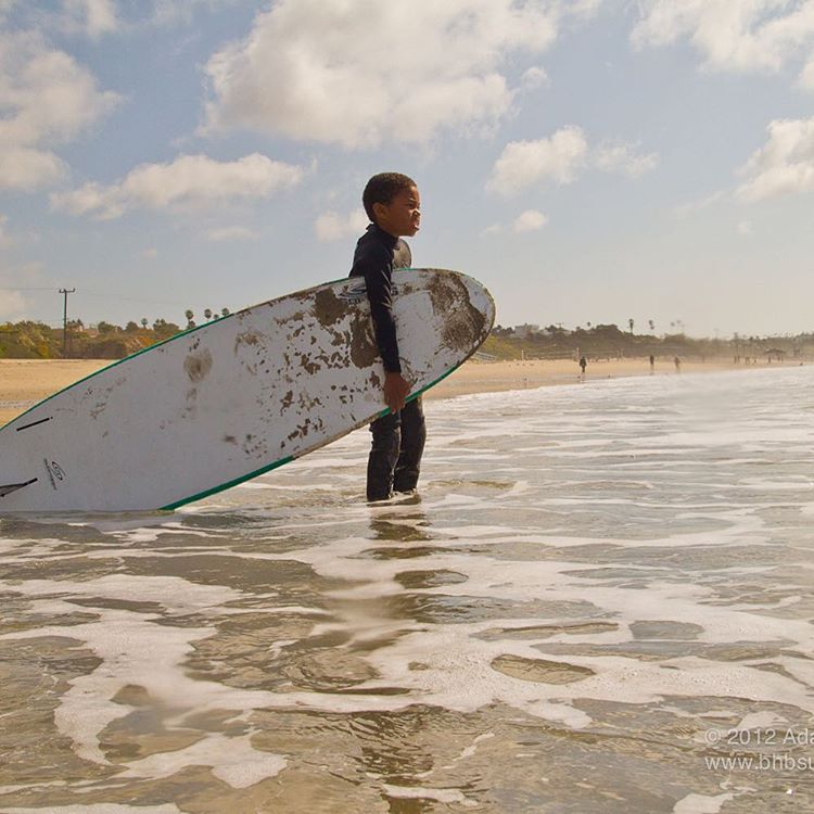 Surfing with the Black Surfing Association in 2012 #tbt @malibumakos @nike @stoked_la