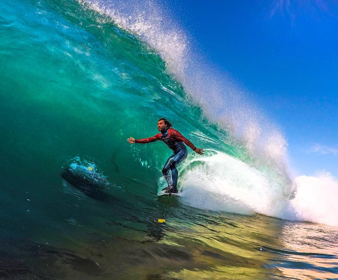 @timmyreyes finding the green room in Southern California. Photo: @wesurfoc GoPro HERO4 | GoPole Evo #gopro #gopole #gopoleevo #surfing