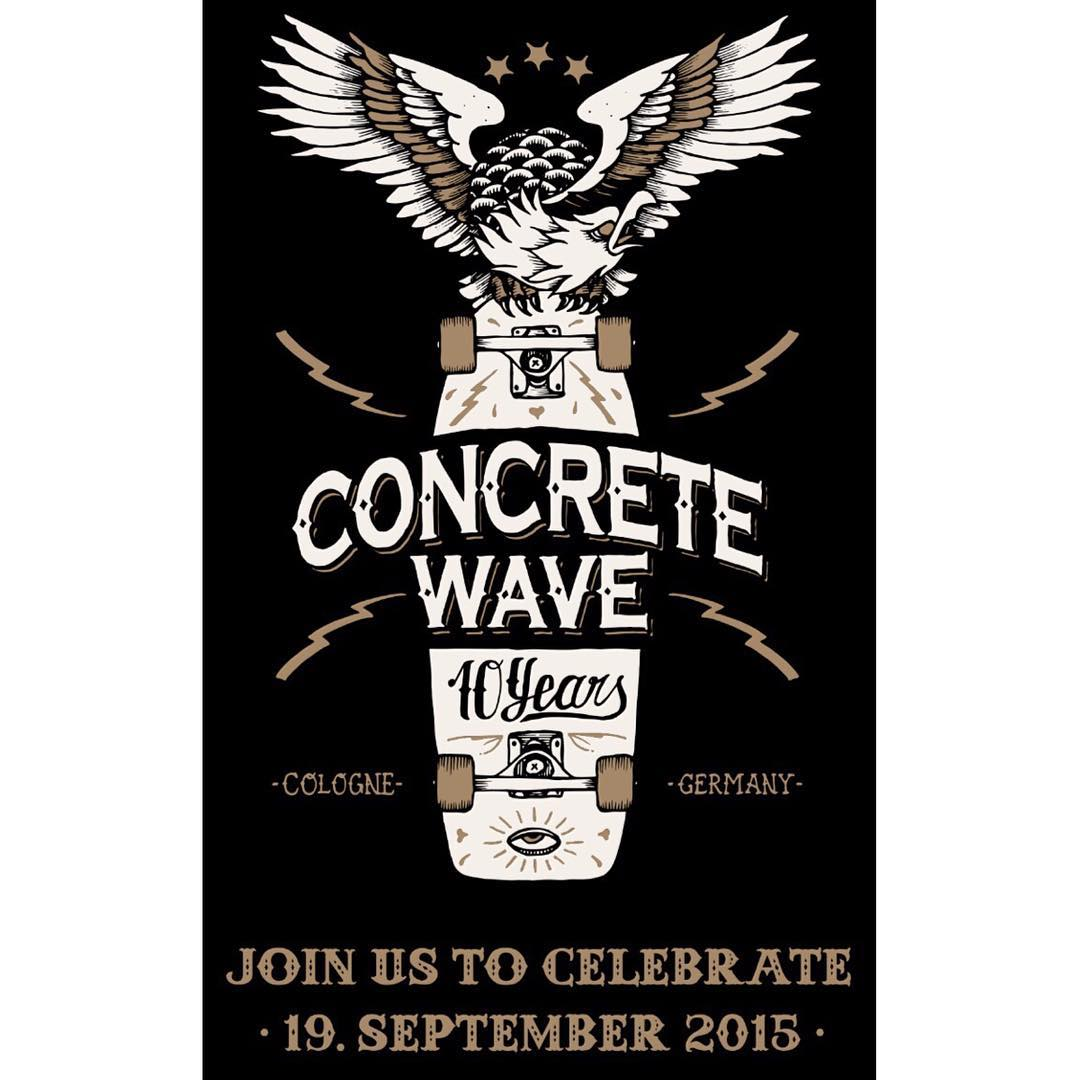 WE'RE GOING!  One of the best & raddest skateshop in the world is celebrating its 10 years anniversary and we'll be there!  @concretewave_skateshop in Cologne, Germany had put together the raddest day ever on September 19 to celebrate with friends,...
