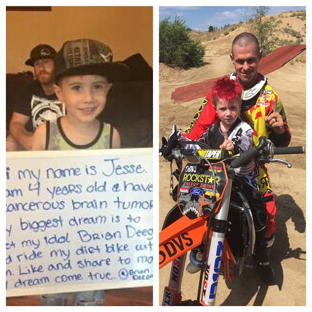 Wish Granted for Jesse . Had a fun day riding with him and his little bro . And all the guys that rode with us. Thx to all that helped make this happen. Such a cool kid. Stay strong and we will pray for you to beat #cancer. John 13:34-35 Do it for his...