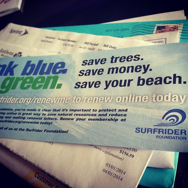 Been thinking about all the daily choices made to live a #deepbluelife , but this is one of my favorite, and easiest annual ones to make!  #surfrider # community