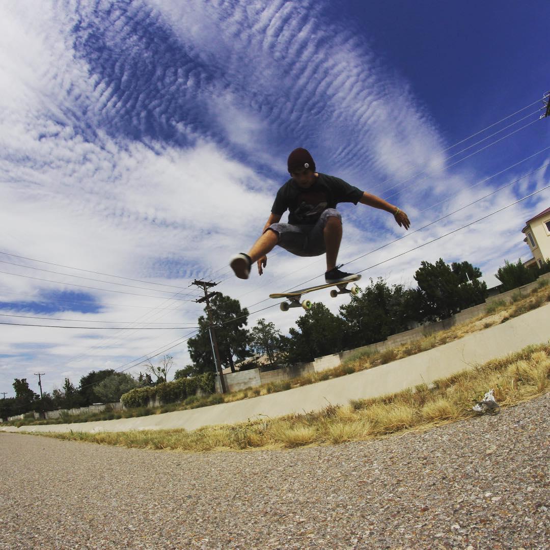 James Tracey--@deadbear13 Ollie north on the Da Kine!